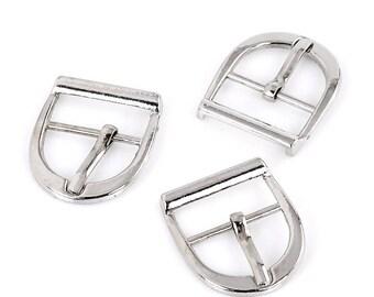 2 silver 12x19mm belt buckles: sea 0164