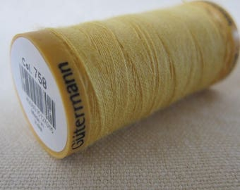 Thread build Gütermann 200 m 100% cotton yellow n 758