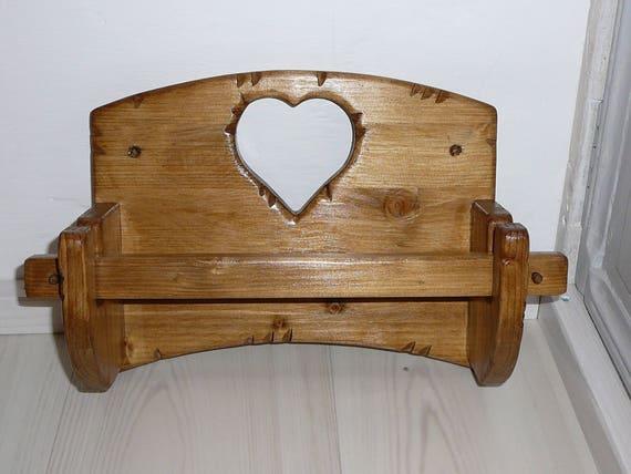 d vidoir essuie tout porte rouleau sopalin papier coeur bois. Black Bedroom Furniture Sets. Home Design Ideas