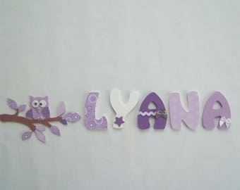 custom name - OWL on a branch decoration