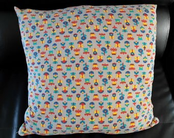 Cushion cover 40 x 40 cm floral patterns