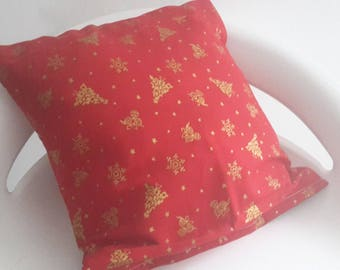 Red and gold spirit pillow cover Christmas 30 x 30 cm/Christmas/gift Christmas decoration