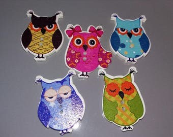 Buttons in full colored OWL family