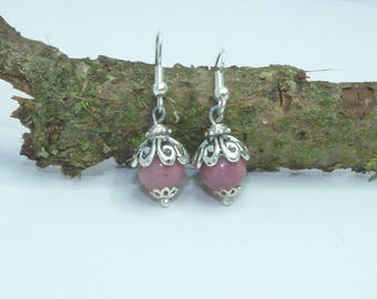 PEARL STONE RONDONITE EARRINGS