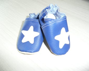 Baby gift shoes Navy Blue White Star