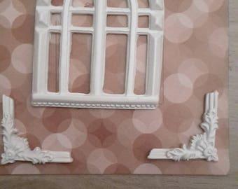 Baroque window plaster frame