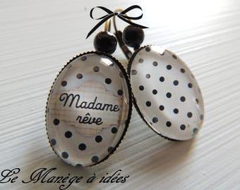 """Earrings sleeper"" Madame dream ""METAL BRONZE"