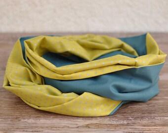 Snood duck blue and yellow banana mixed