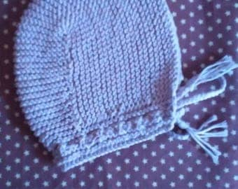 Retro baby bonnet Hat knit cotton