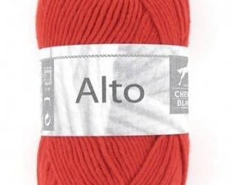 100% cotton crochet yarn wool knitting ALTO Red No. 140 ° N white horse 040