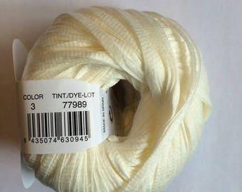 Tahiti (3) cotton thread ecru Katia - ball 50 GR