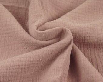 Double cotton gauze / old ROSE / cut 25cm