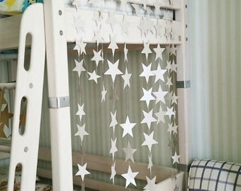 Decorative Garland white stars party or decoration