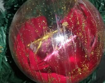 Ball enchanted gift Christmas - Red
