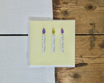 Yellow Candle Birthday Card