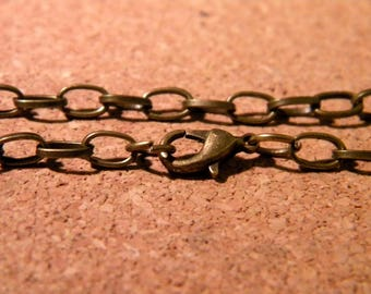 Customize 205 mm - lobster clasp 10 bracelets - link 12 x 7 mm bronze D69 2