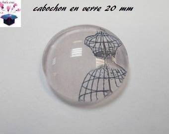 1 cabochon clear 20mm fashion theme