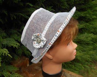 transparent white summer hats