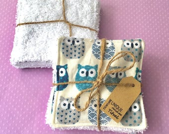 Set of 4 wipes washable 8cm