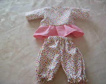 clothing for infants of 30 cm (pants, bloomers, blouse) fits tidoo, hug