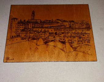 -Ash picture by hand.  Florence