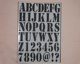 "Stencil flexible stencil ""alphabet"" plastic"