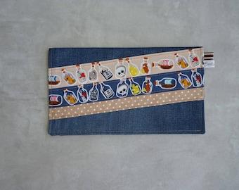 Recycled jean napkin Pocket pirates theme