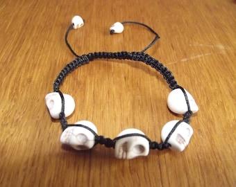 Shamballa bracelet with skulls.
