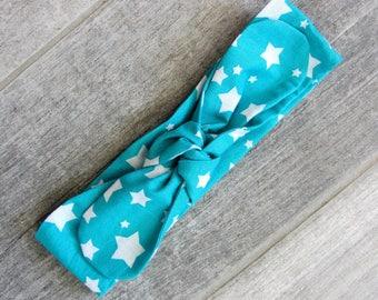 "Headband tie ""Emerald Star"""
