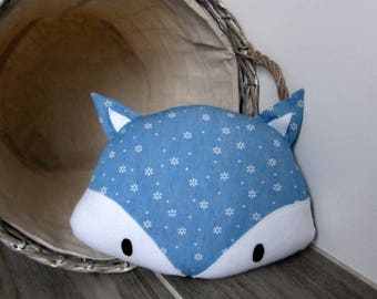 Pillows with decorative floral light jeans Fox
