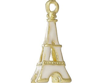 1 gold plated Eiffel Tower charm