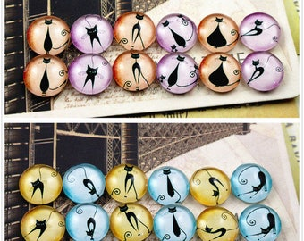 24 cabochons 12 mm glass colorful within 15 days