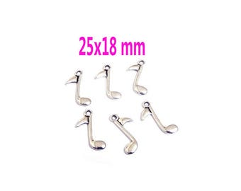 5 charm pendant 25 x 18 mm NOVELTY musical note