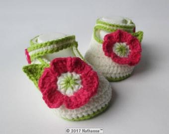 Chaussons ballerines à fleurs crochetés main sur commande