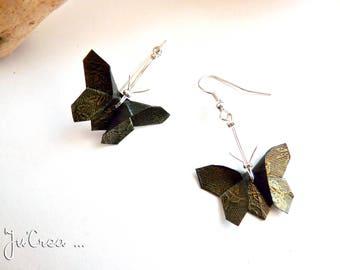 Origami butterflies reflections earrings