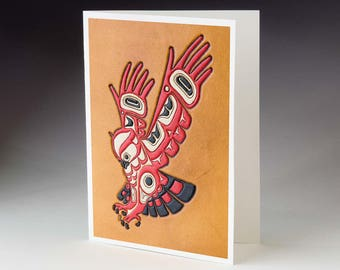 Owl, Northwest Coastal Art Card