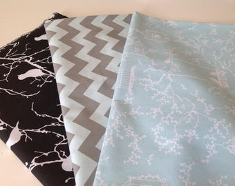 Set of 3 coupons, 100% cotton fabrics