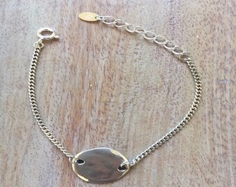 Silver plated plated bracelet round