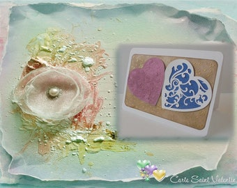 Love - Duet of hearts in pink and blue