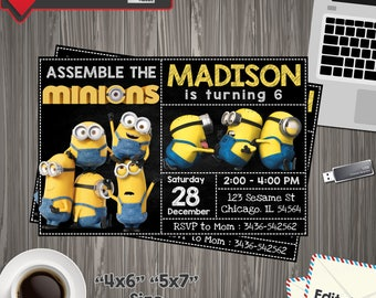 Minion Invitation, minion Birthday, minion Party, minion Printable, minion Editable, minion PDF, minion party birthday, minion edit, minion