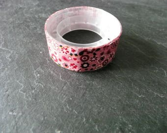 Set of 3 rolls of tape masking tape-pink with flowers (2) 1.5 cm x 3 m