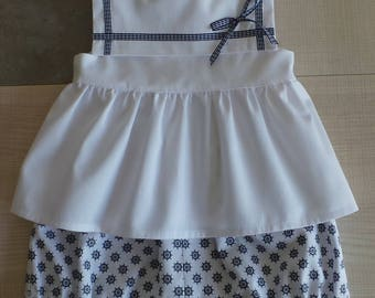 blouse without sleeve and bloomer set 12 months
