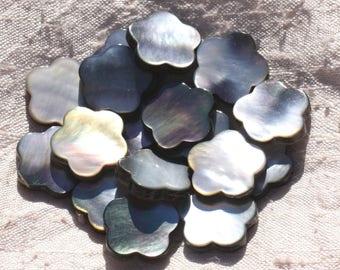 2PC - Perle Nacre natural black - 18 mm 4558550015327 Fleur