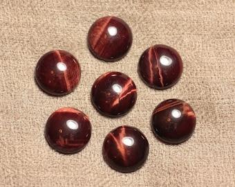 Gemstone cabochon - Bull's eye - round 15mm 4558550031228