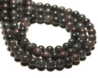 20pc - beads - Jade balls 6mm khaki gray plum - 8741140016736
