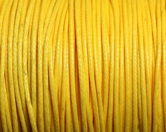 5 m - 1 wax cotton cord mm yellow 4558550016010