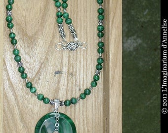 Naimi malachite necklace on silver