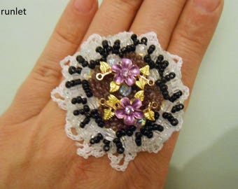 The flower Ring/jewelry original/ring gift for women