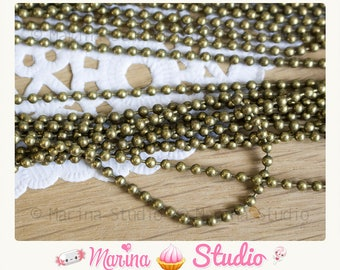 10 meters bronze ball chain beads 2.4 mm N21941