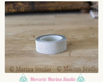 Masking tape adhesive silver glittery silver paper